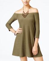 Planet Gold Juniors' Off-The-Shoulder Swing Dress