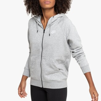 Nike Essential Zip-Up Hoodie in Cotton Mix with Pocket