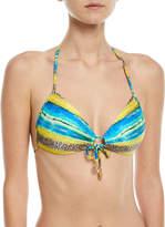 Luli Fama Multi-Print Molded-Cup Bikini Top
