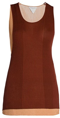 Bottega Veneta Two-Tone Rib-Knit Tank Top