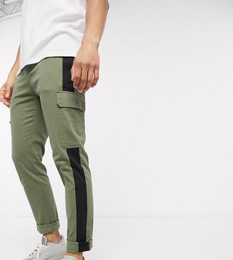 Asos Design DESIGN skinny cargo pants with contrast panel