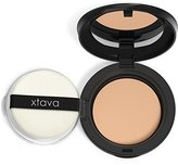 xtava Perfect Skin Powder Pact - Buildable Matte Coverage Pressed Powder SPF 25 - Shine-Free Oil Control for Poreless Results - Compact Makeup Mirror - Cruelty Free - Crafted in Korea (Sweet Almond)
