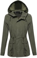 Made by Emma Military Anorak Jacket Fur Lining Detachable Hood With Faux Fur Olive L