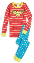 Hanna Andersson Wonder Woman Organic Cotton Two-Piece Fitted Pajamas (Toddler Girls, Little Girls, Big Girls)