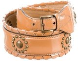 Alaia Patent Leather Studded Belt