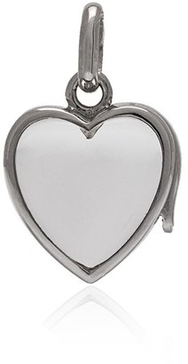 Loquet White Gold Small Heart Locket Necklace