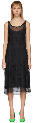 Marine Serre Black Devore Dress