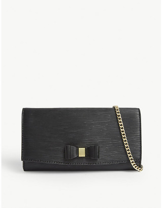 Ted Baker Zea bow detail leather wallet-on-chain