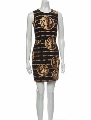 Dolce & Gabbana Printed Mini Dress Black