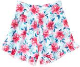 Splendid Girls' Pink & Blue All-Over Print Ruffle Short