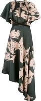 Johanna Ortiz Abstract-Print Asymmetric Dress
