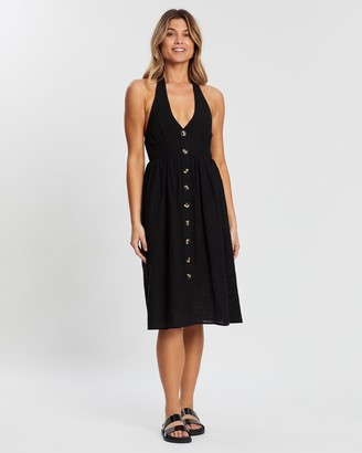 Atmos & Here Maralyn Button Front Dress