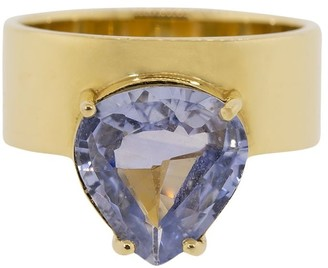 WWAKE 14kt yellow gold One of a Kind monolith sapphire ring