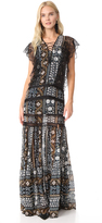 Veronica Beard Elly Lace Maxi Dress