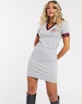 Love Moschino sports trim v-neck dress