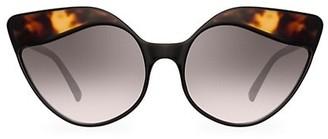 Linda Farrow 871 C3 Tortoise Shell Cat Eye Sunglasses