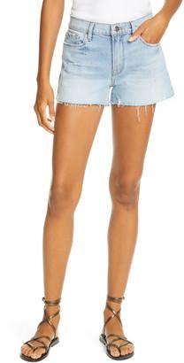 Frame Le Raw Edge Cutoff Denim Shorts