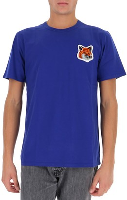 MAISON KITSUNÉ Velvet Fox Head Patch T-Shirt