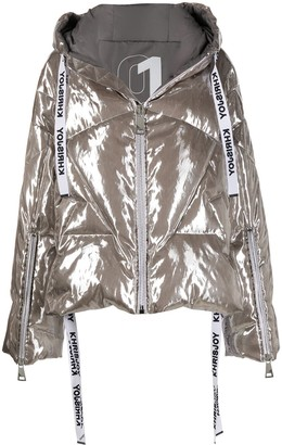 KHRISJOY Oversized Metallic Puffer Jacket