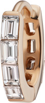Maria Tash Single 6.5MM Rose Gold Baguette Diamond Eternity Clicker Ring