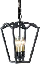 Feiss Kings Table Hall-Antique Forged Iron Triple Bulb Light