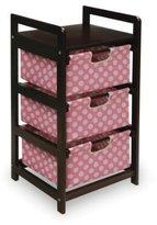 Badger Basket Three Drawer Hamper/Storage Unit, Espresso/Pink by
