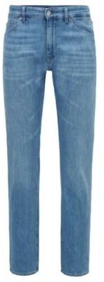 HUGO BOSS Regular Fit Jeans In Lightweight Italian Denim - Turquoise