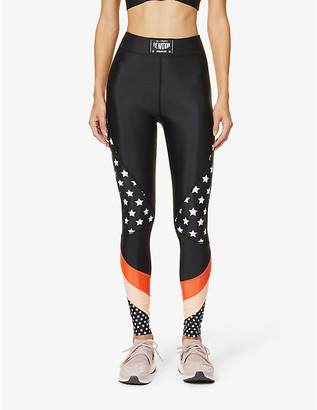 P.E Nation Off Side star-print high-rise stretch-jersey leggings