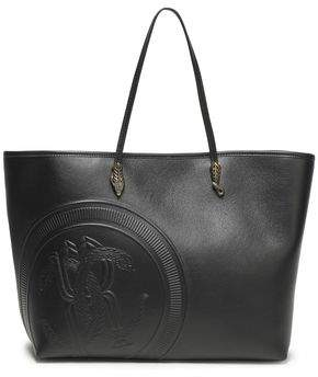 Roberto Cavalli Embossed Leather Tote