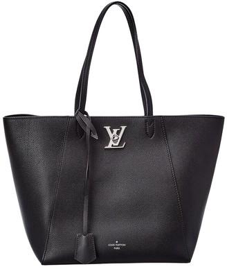 Louis Vuitton Black Leather Cabas Tote