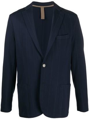 Eleventy Button Down Striped Blazer