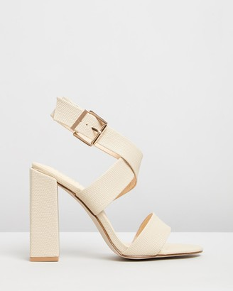Verali - Women's Nude Open Toe Heels - Beko - Size One Size, 36 at The Iconic