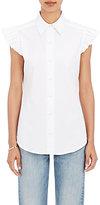 Harvey Faircloth Women's Ruffled Cap Sleeve Shirt