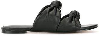 Isa Belle Mara & Mine Isabelle Knot slide sandals