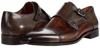 Massimo Matteo Two-Tone Double Monk (Grey/Dattero) Men's Shoes