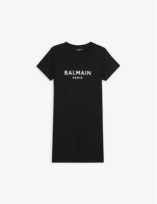 Balmain Logo-print cotton T-shirt dress 4-16 years