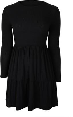 Wallis Black Tiered Hem Dress