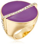 "Trina Turk Retro Mod"" Oval Cab with Pave Detail Ring, Size 7"