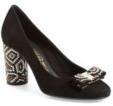 Salvatore Ferragamo Women's Beaded Heel Bow Pump