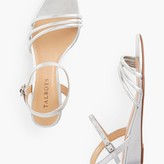 Talbots Cora Multi Strap Mini Wedge Sandals - Metallic Leather