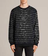 AllSaints Trico Leopard Crew Sweatshirt