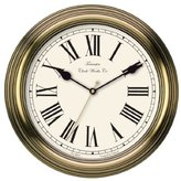 Towcester Clock Works Co. Acctim 26708 Redbourn Wall Clock, Gold