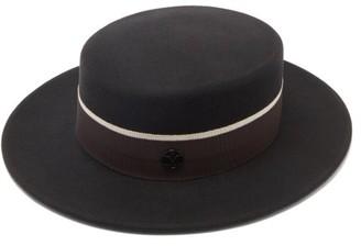 Maison Michel Kiki Felt Hat - Dark Grey