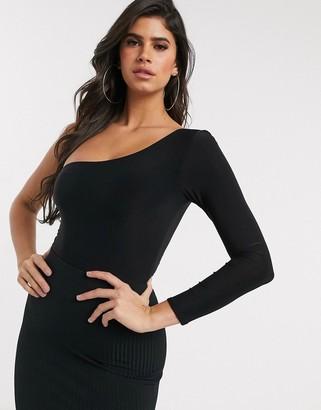 Club L London cold shoulder assymetric bodysuit