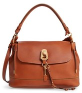 Chloé Medium Owen Calfskin Leather Satchel - Brown