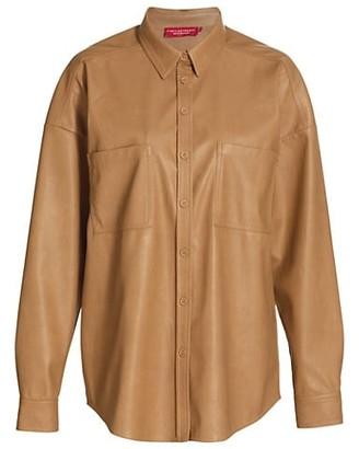n:philanthropy Monte Vegan-Leather Shirt