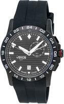 Venus of Switzerland GMT-Alarm Gent Chronograph Watch, Black