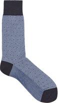Reiss Reiss Hilda - Geometric-print Socks In Blue, Mens