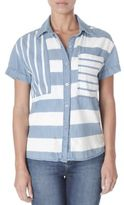 Kensie jeans Striped Button-Front Shirt
