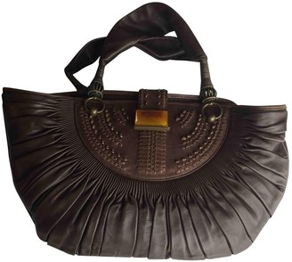 Christian Dior Brown Leather Handbags